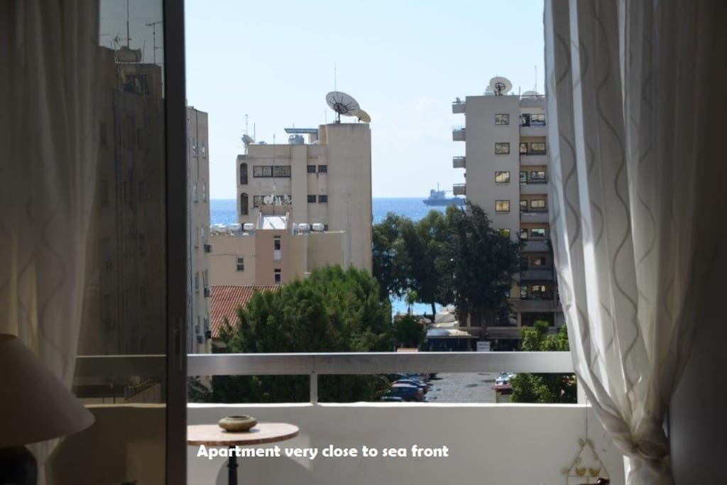 Views to sea from apartment 150 metres
