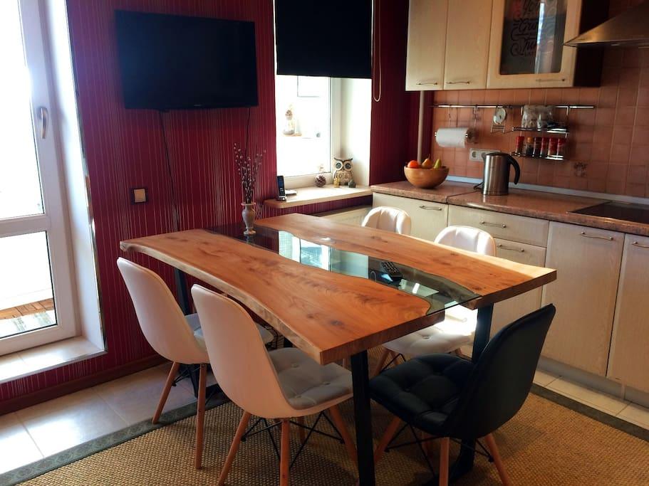 Fully equipped kitchen. Полностью оборудованная кухня