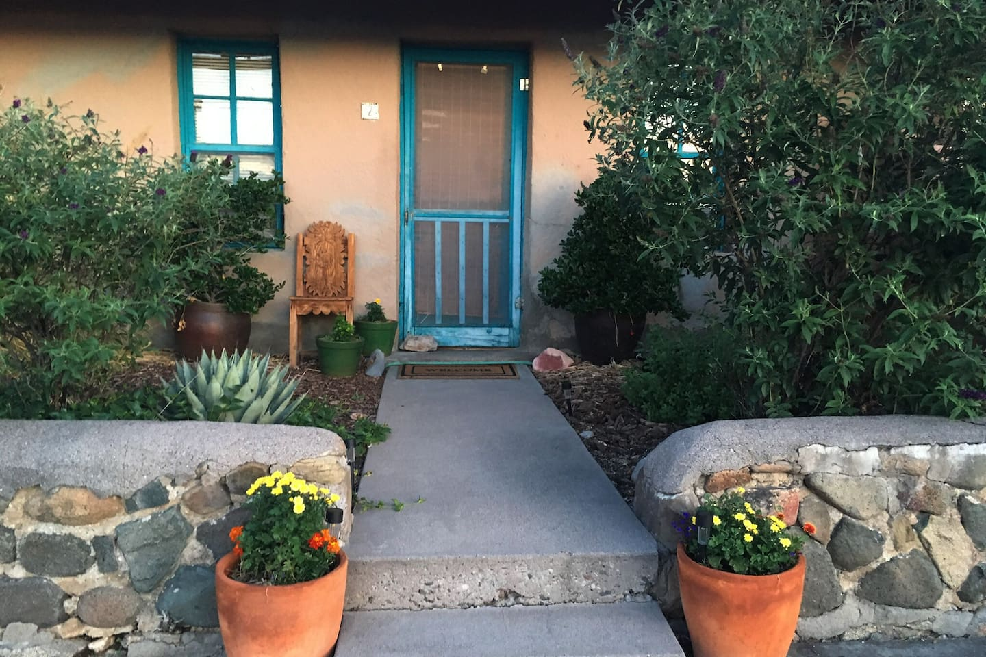 Bienvenidos, Welcome to Adobe Agave's Apt. 2!  Our gardens are planted with lots of native and habitat plantings to attract hummingbirds and butterfly bushes to attract ....