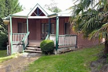 cottage surrounded by gardens, lovely for picnics and privacy