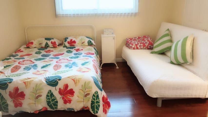 湾区中心地带,独立卫生间的大主人房,适合小家庭和情侣入住
