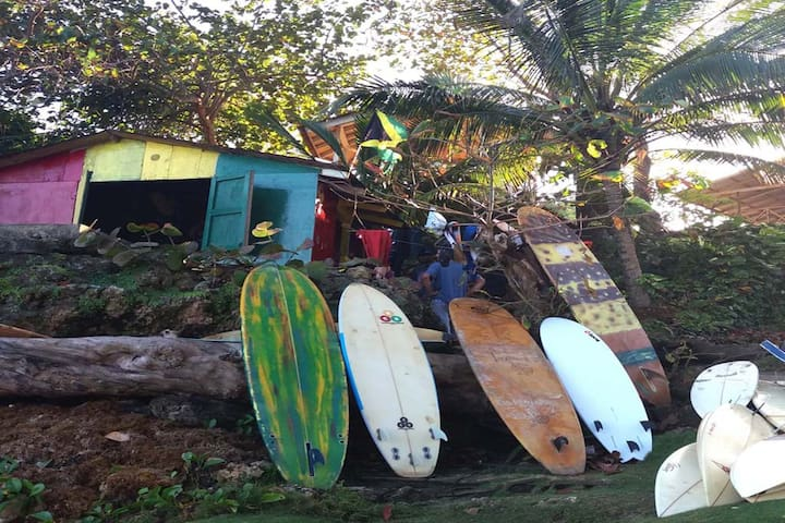 Want to add a bit of excitement to your day?  Surf board rental is available at Boston Beach!