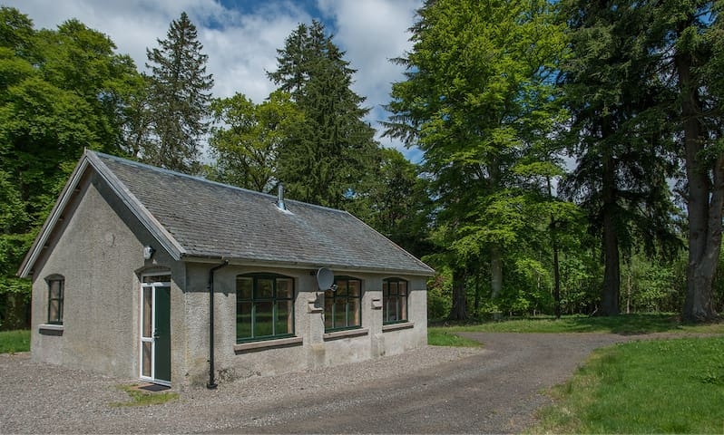 Rural Keeper's bothy tucked away  in mature woods