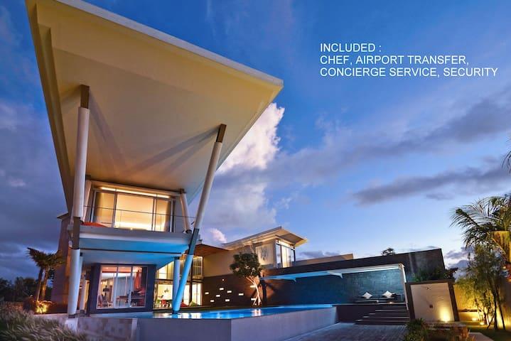Villa Blue Lagoon, Sea View & Chef, playa Balangan