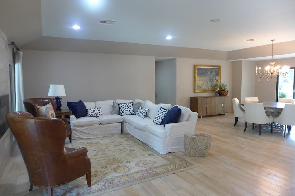 The home features a very open floor plan with two sitting areas.