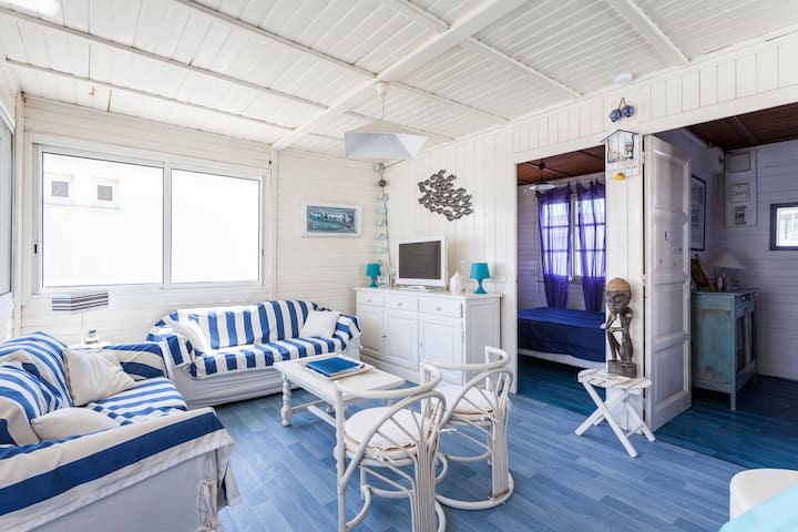 Authentic Cottage for 9/10, little sea view - Gruissan