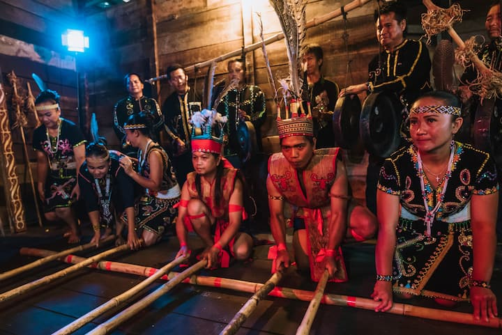 Murut Bamboo Dancing