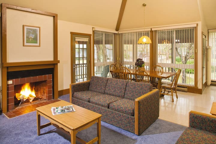 Enjoy the spacious living room
