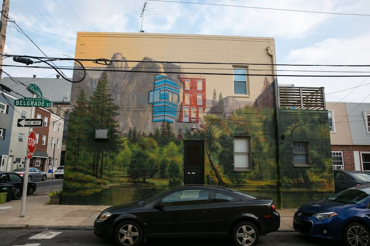Studio Loft in Fishtown - Mural Bldg