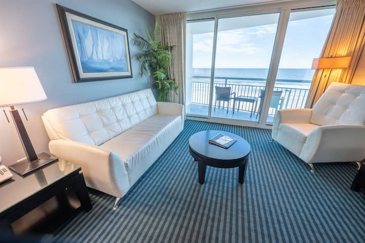 NEWLY ADDED, Clean modern oceanfront condo - LOW FLOOR Near Boardwalk