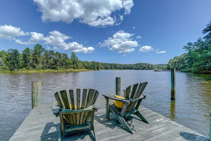 3bd/3ba riverfront home w/ private dock, kayaks