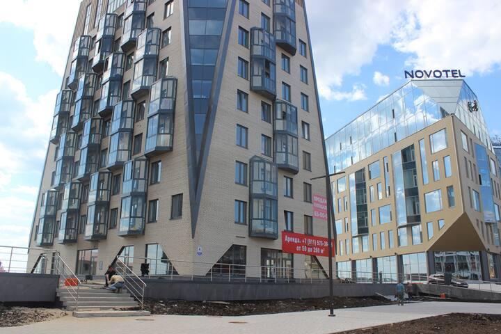 Квартира ЖК АЛЬФА на Набережной 52к2, Arkhangelsk