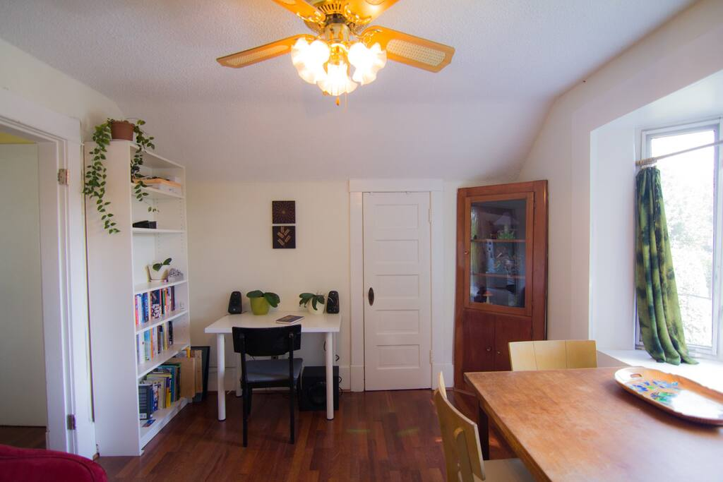 Living Room with laptop workspace