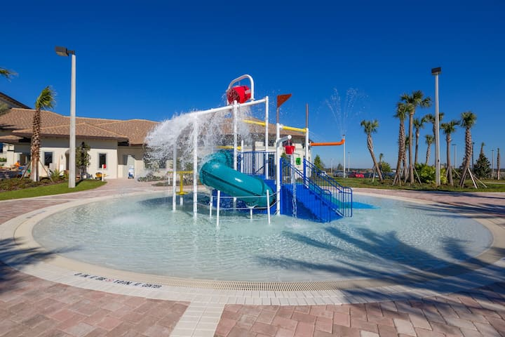 Another place for the kids to really let loose! This splash area and water playground has water shoots and water pail dump! The kids are going to love the memories made here in this area just for them!