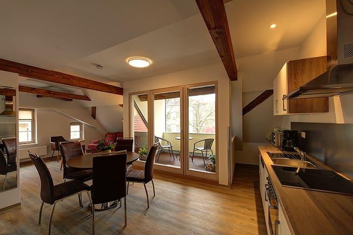 FeWo mit 2 Schlafzimmern + Dachterrasse in Görlitz