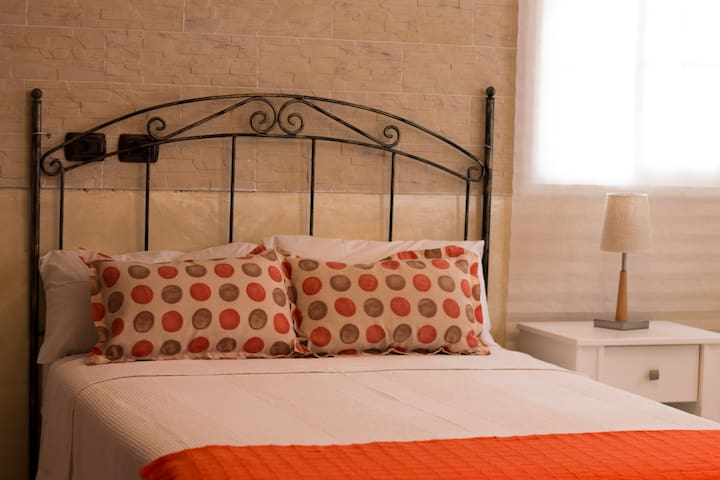 Beautiful bedroom in an elegant villa in Tenerife