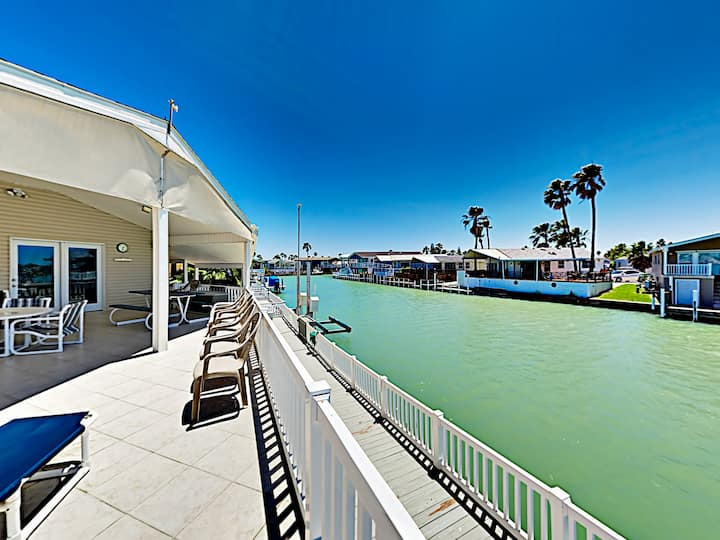 Waterfront Home w/ Covered Deck & 2 Pools!