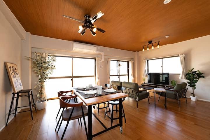 IMPREST STAY#6B 50㎡広々リビング★品川8分横浜10分/客室専用WIFI