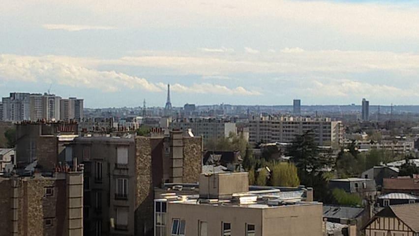 Bel appartement vue la Tour Eiffel - Enghien-les-Bains - Appartamento