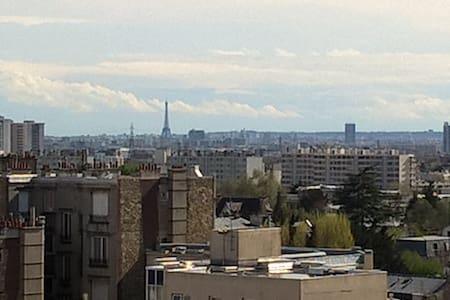 Bel appartement vue la Tour Eiffel - Enghien-les-Bains - Wohnung