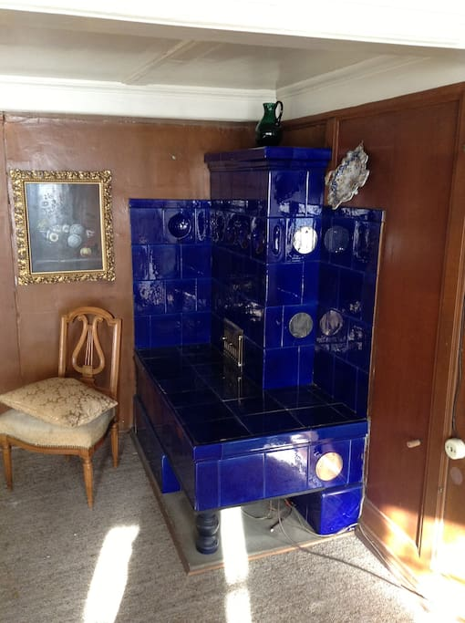Precious Tile Oven in the Living Room