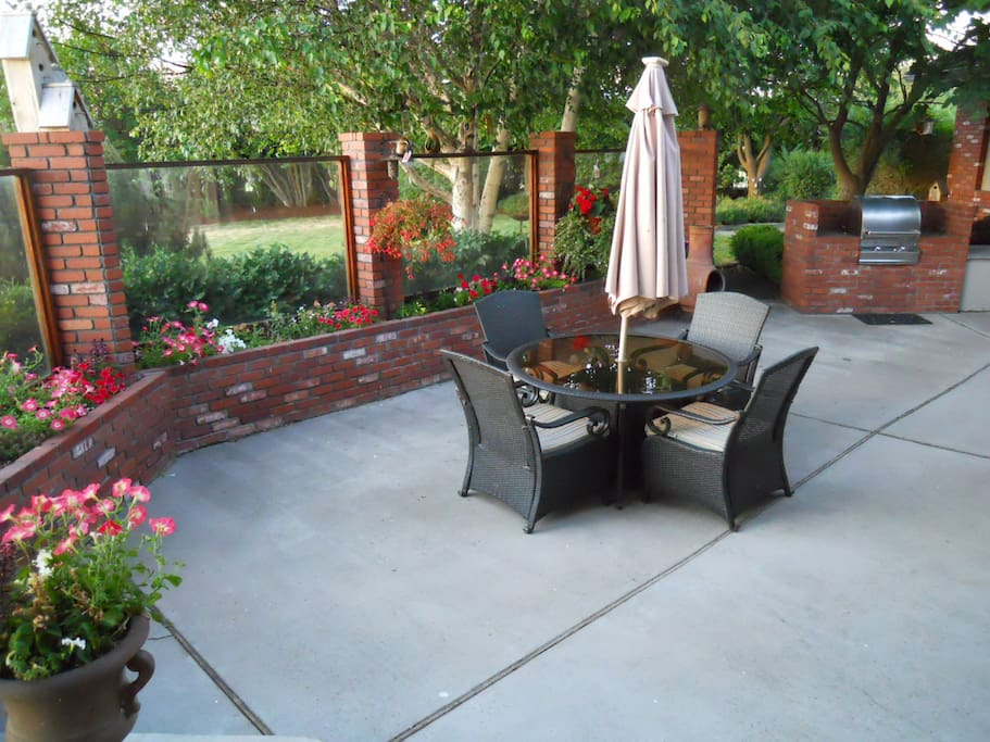 Relax on one of the private patio/deck areas.