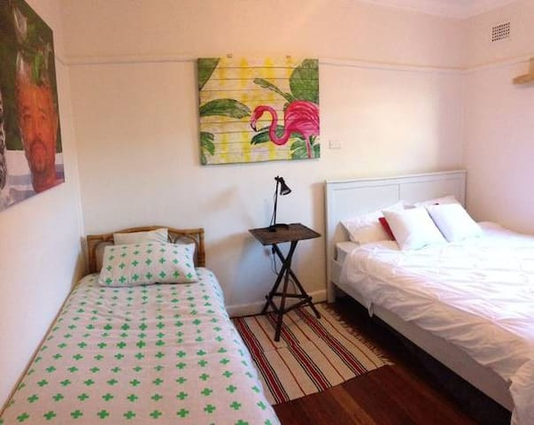 3rd Bedroom with Queen and Single Beds