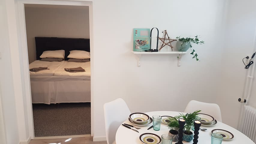 Two room apartment with kitchen and bathroom