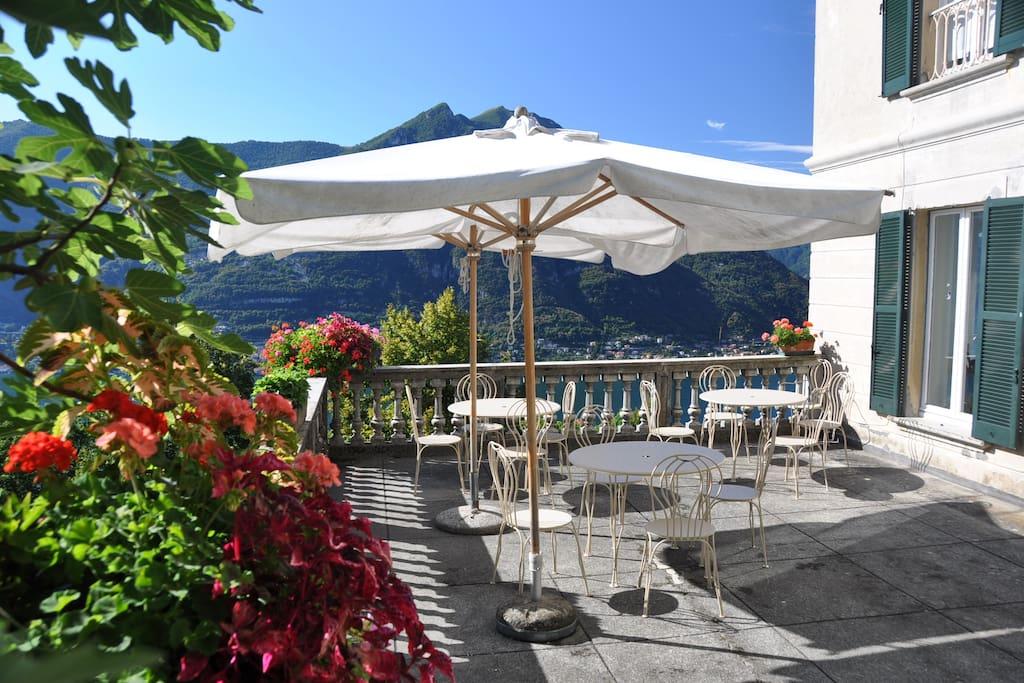 Terrace where we serve breakfast