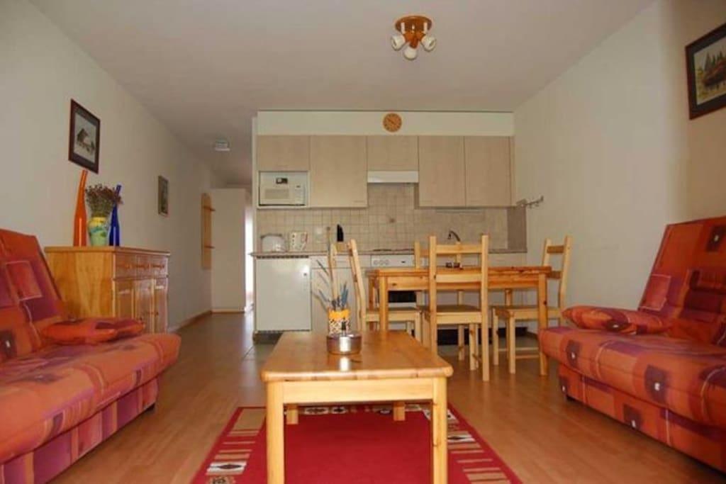 cuisine/salon de l'appartement