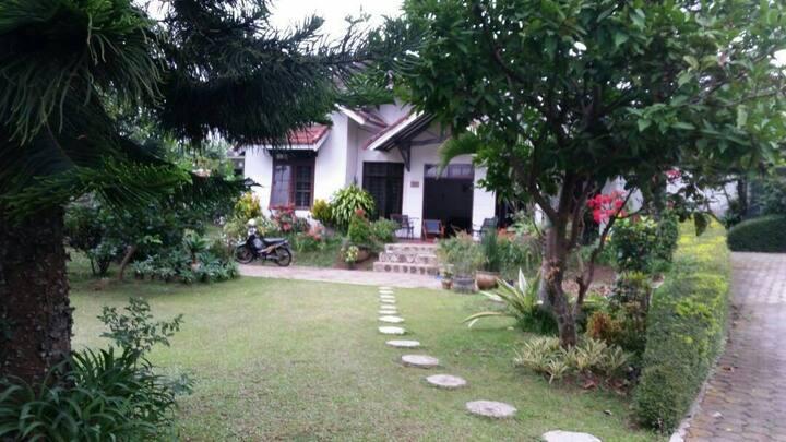 large outdoor space batu villa