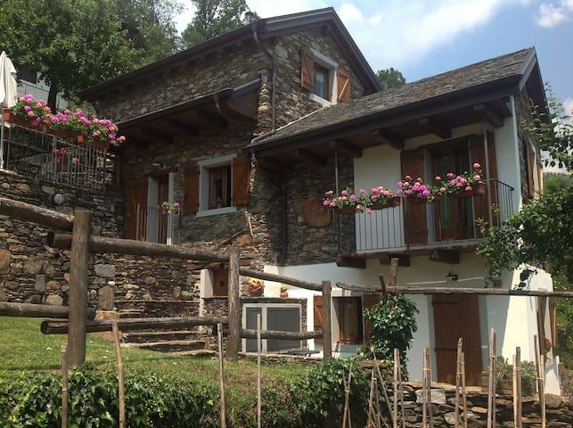 Rustico (4) con giardino e terrazzo - Cossogno - Casa