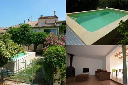 Maison de village with pool - Saint-Didier - Casa