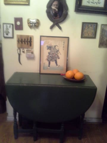 Drop Leaf Table, opens for dining