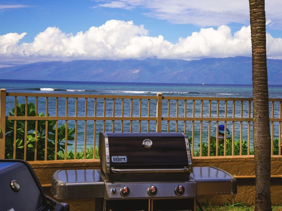 BBQ next to the ocean.
