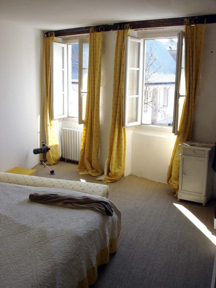 Une belle chambre  ensoleillé en plein centre