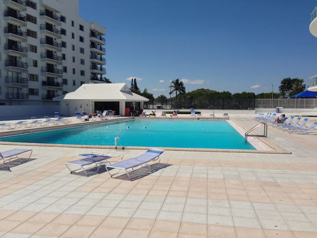 Pool area from beach