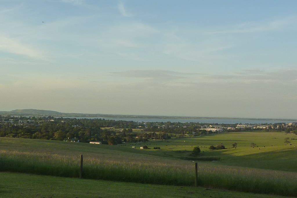 North vista over Colac, lake and Kanawinka Geopark.
