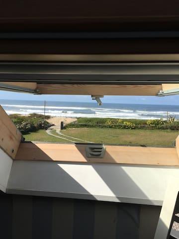 Casa de madeira na praia - Vila do Conde - Huis