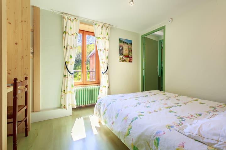 Chambre double avec lit double WC séparé