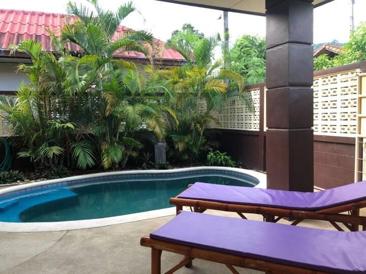 Lamai Baan Sabai, piscine, plage 250m, 3 chambres