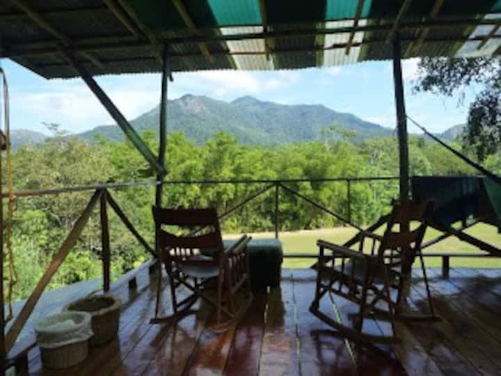 Mountain lodge with stunning views