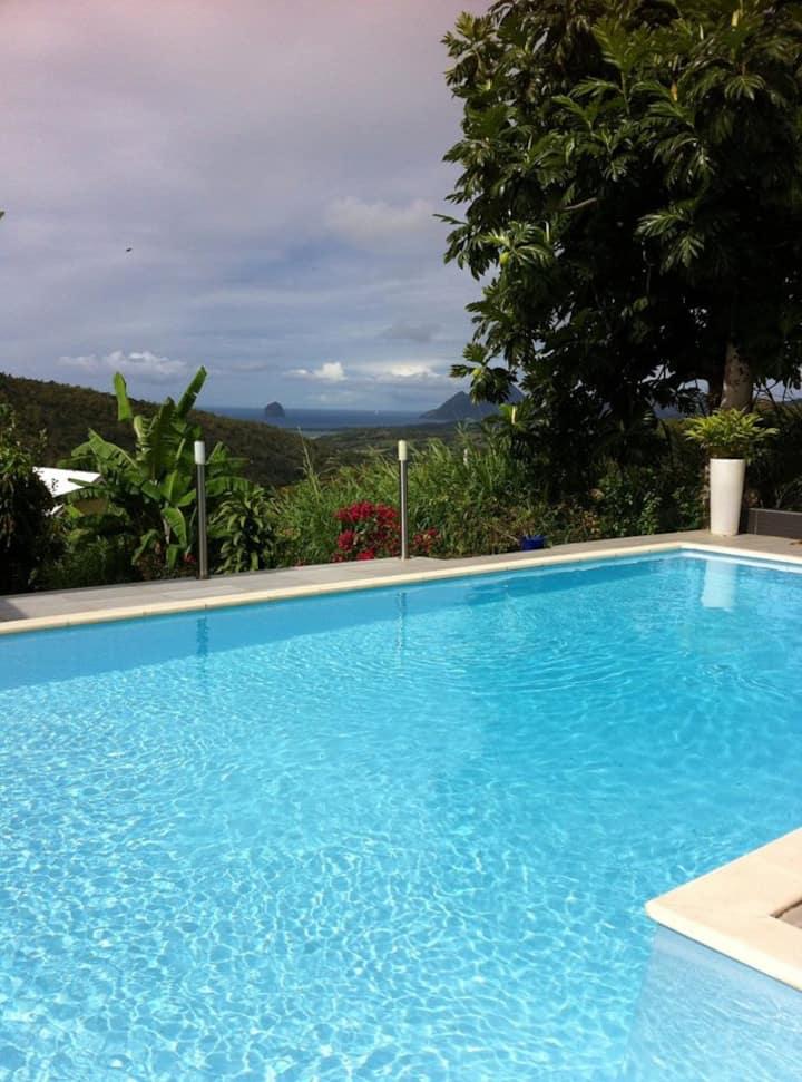 Magnifique villa, piscine vue exceptionnelle