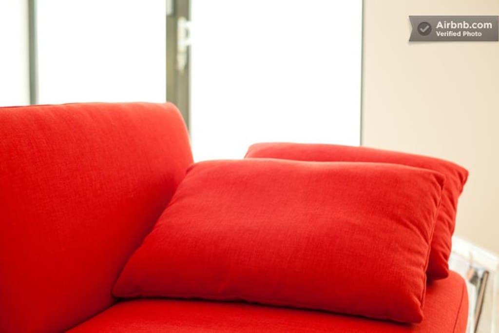sofa-bed detail