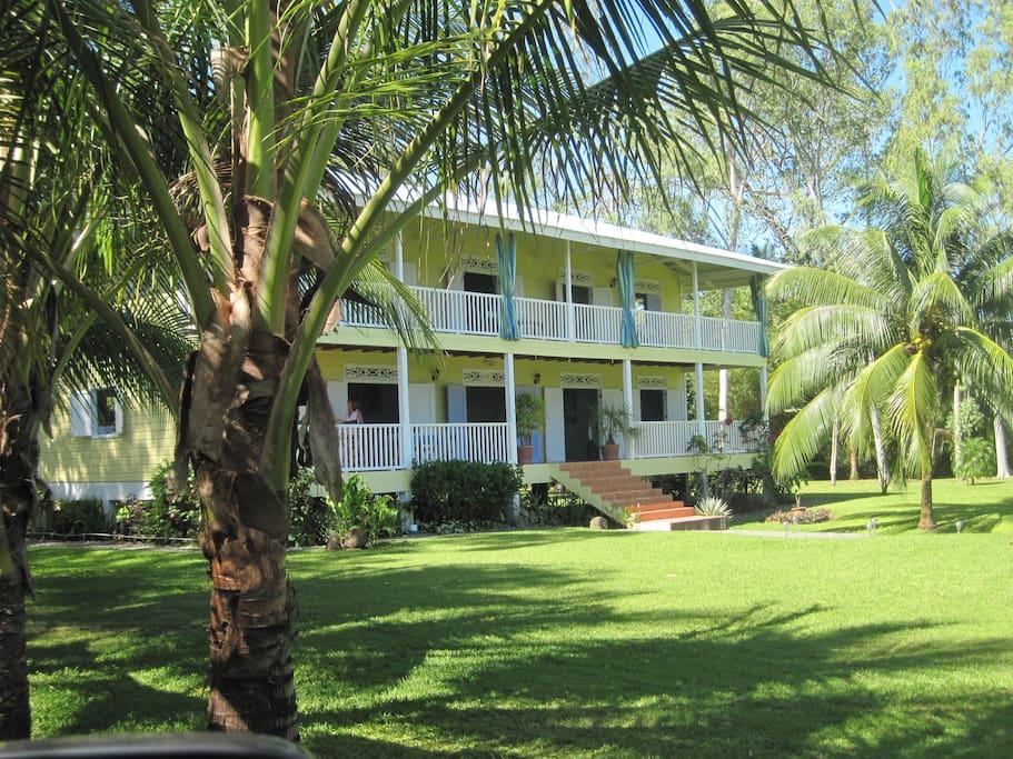 The colonial Caribbean house we call Sand Dollar Beach Bed & Breakfast.
