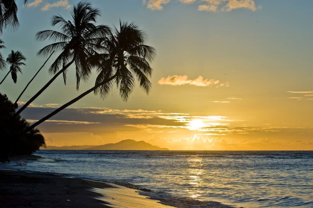 Wake up to view the breath-taking sunrise and the island of Vieques