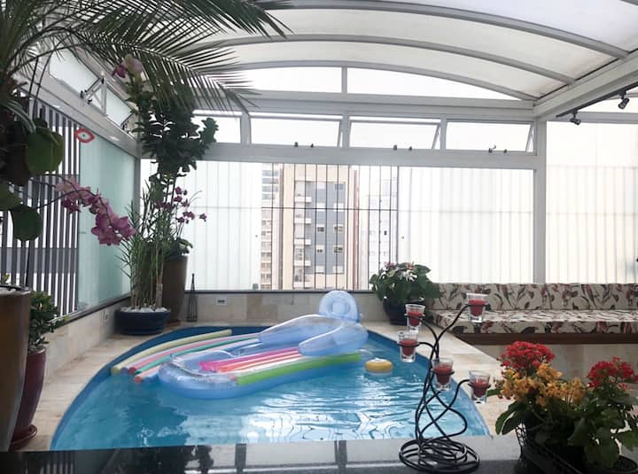 QUARTO PRIVATIVO COBERTURA PISCINA 13 MIN PAULISTA