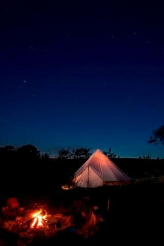 Belle Glamping whole site + huge wooden hot tub