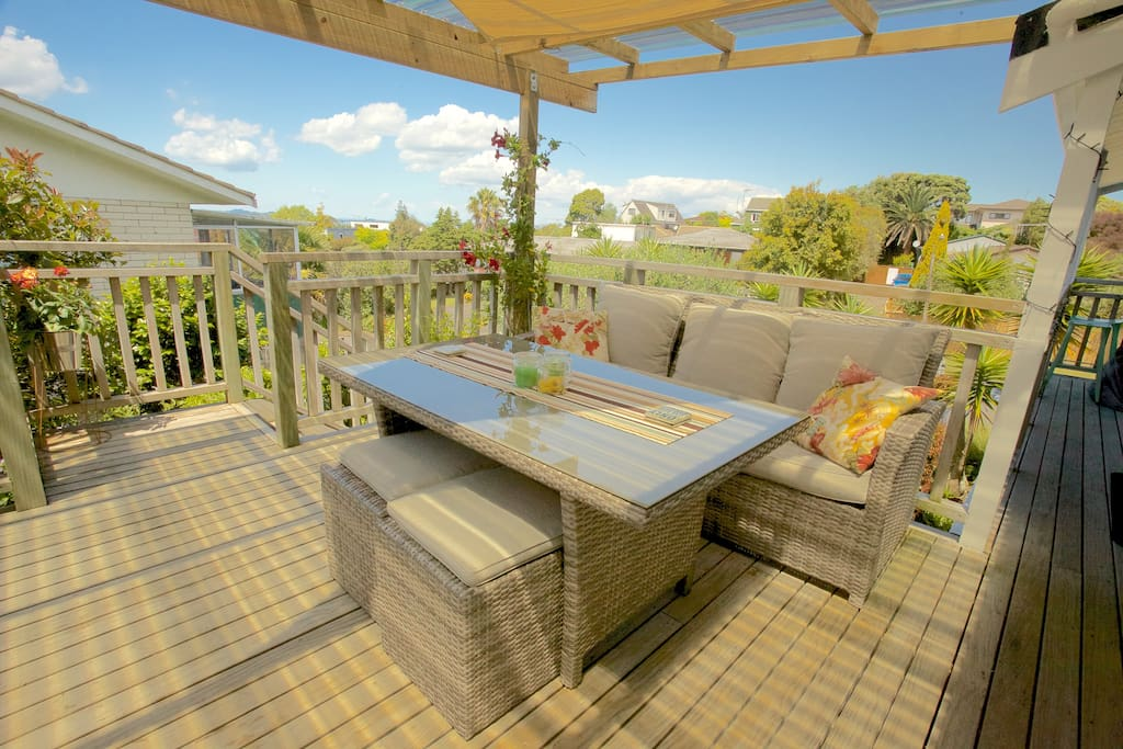 Outside deck area to enjoy all weather