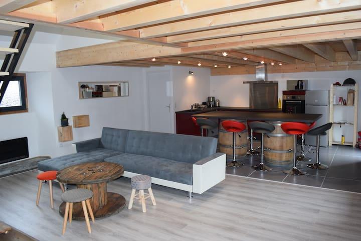 grange tout confort 6/9 pers - Bourisp - House